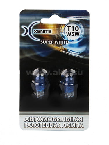 XENITE T10 W5W Super WHITE